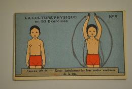 Chromo Bon Point Banania Exquis Dejeuner Sucré La Culture Physique En 30 Exercices Exercice 9 - Altri