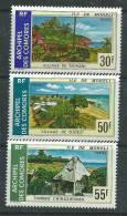 Comores N° 101 / 03 XX  Sites De L'Ile De Mohéli La Série Des 3 Valeurs Sans Charnière TB - Unused Stamps