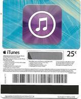 @+ Carte Cadeau - Gift Card : ITUNES Bleue - Apple (25€) - Verso Bande Magnétique - Frankreich