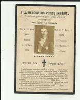 Carte De Funérailles - Ala Mémoire Du Prince Impérial , Dit Louis Napoléon - Mort Au Combat Le 1er Juin 1879 - - Historische Documenten