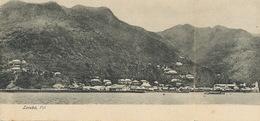 German Samoa Stamped Double Fold Levuka Fiji Card P. Used 1906 Apia To Maleys Villa Des Iris Croix De Vie Vendée France - Fiji