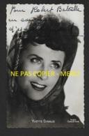 AUTOGRAPHE - YVETTE GIRAUD (1916-2014) CHANTEUSE FRANCAISE EPOUSE DE MARC HERRAND - FORMAT 9 X 14 CM - Dédicacées