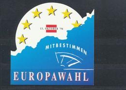 Vignette  Aufkleber  Mitbestimmen  Europawahl - Stamps