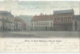 Namen - Namur - Le Cercle Catholique Et Rue St. Aubain - Hôtel St. Aubain - 1904 - Namur