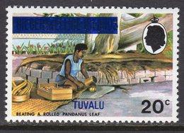 Tuvalu 1976 Definitive Overprints 20c Value, Wmk. Multiple Crown CA Sideways, MNH, SG 23 (BP2) - Tuvalu