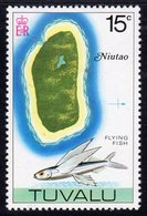 Tuvalu 1976 Map Of Niutao & Flying Fish Definitive 15c Value, MNH, SG 37 (BP2) - Tuvalu