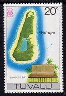 Tuvalu 1976 Map Of Vaitupu & Maneapa Definitive 20c Value, MNH, SG 38 (BP2) - Tuvalu