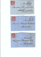 SUISSE 1869: 3 Enveloppes De Bern Pour Semsales - Lettres & Documents