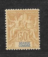 GRANDE COMORE - N° 9 NEUF * - COTE = 26.00 € - Unused Stamps