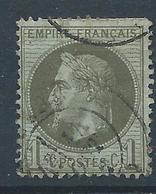 FRANCE - 1870 - Napoléon Lauré - YT N°25 - 1 C. Vert Bronze - Oblitéré - Bon Etat - 1863-1870 Napoléon III Lauré