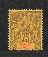 GRANDE COMORE - N° 12 NEUF * - COTE = 67.00 € - Grande Comore (1897-1912)