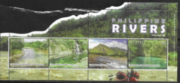 PHILIPPINES, 2019, MNH, RIVERS, MOUNTAINS, WATERFALLS, SHEETLET - Other