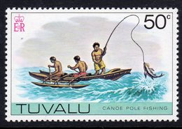 Tuvalu 1976 Canoe Pole Fishing Definitive 50c Value, MNH, SG 41 (BP2) - Tuvalu