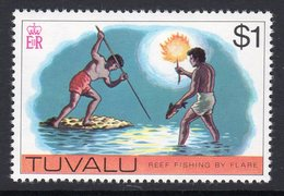 Tuvalu 1976 Reef Fishing Fishing Definitive $1 Value, MNH, SG 42 (BP2) - Tuvalu