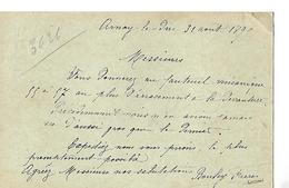 Carte-lettre 1899 / 21 ARNAY LE DUC / BOULEY Frères / Commande Fauteuil  LEBRUN 70 ST LOUP - Frankrijk