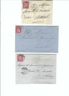 SUISSE 1868-69: 3 Enveloppes De Bulle, Carouge Et La Chaux-de-Fonds Pour Semsales - Lettres & Documents