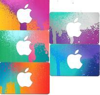 @+ Carte Cadeau - Gif Card - Lot De 5 Cartes Itunes Apple (France - Avec Bande Magnetique) - Frankreich
