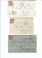SUISSE 1869-79: 3 Enveloppes De Bulle, Couvet, Cully Et Fleurier Pour Semsales - Lettres & Documents