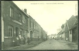 """BUCQUOY Pre Arras ~1918 ( Pas De Calais ) """" Rue De La Carte Vers Arras Avec Vielle Voiture + Persons """" """" - Arras"""