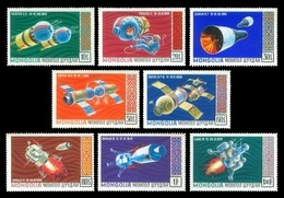 Mongolia 1971 Mih. 618/25 Space Research Of USSR And USA MNH ** - Mongolia