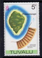 Tuvalu 1977-8 Map Of Island No Watermark Definitives 5c Nanumanga & Grass Skirt, MNH, SG 61 (BP2) - Tuvalu