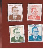 TURCHIA (TURKEY)  -  SG 2353.2357  - 1971 K. ATATURK   - USED - Brieven En Documenten