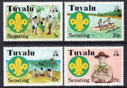 Tuvalu 1977 50th Anniversary Of Scouting Set Of 4, MNH, SG 73/6 (BP2) - Tuvalu