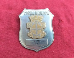 Distintivo Vintage Anni '60/70 Vigili Urbani Di Stradella (PV) Marcato Johnson - Police