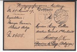 Carte Prisonnier De Guerre 1917  Camp De  SOLTAU Lager  Z3605 - Guerra '14-'18