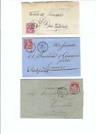 SUISSE 1869-70: 3 Enveloppes De Fribourg Et Genève (2x) Pour Semsales - Lettres & Documents