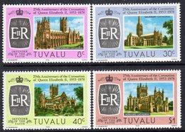 Tuvalu 1978 25th Anniversary Of Coronation Set Of 4, MNH, SG 89/92 (BP2) - Tuvalu