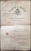 Belgique, Ministère De La Guerre, Lettre De Commissionnement 1818. - Documenten