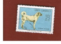 TURCHIA (TURKEY)  -  SG 2459  - 1973 ANIMALS: SIVAS SHEEPDOG  - USED - Brieven En Documenten