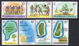 Tuvalu 1978 Independence Overprints Set Of 7, MNH, SG 94/100 (BP2) - Tuvalu