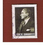TURCHIA (TURKEY)  -  SG 2461  - 1973 K. ATATURK ANNIVERSARY   - USED - Brieven En Documenten