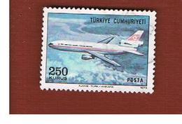 TURCHIA (TURKEY)  -  SG 2480  - 1973 AIRPLANES: DOUGLAS DC-10   - USED - Brieven En Documenten