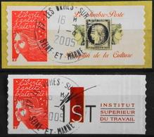 FR. 2004 - Marianne Du 14 Juillet N° 3729A Avec Vignette Différente Oblitéré - Autoadésifs - P. Etat - France
