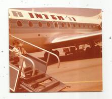 Photographie , Aviation,avion  AIR INTER , 95 X 85  Mm - Luftfahrt