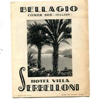 ITALIE , BELLAGIO - Hôtel  Villa  SERBELLIONI   .4 Scans . - Folletos Turísticos