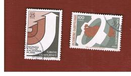 TURCHIA (TURKEY)  -  SG 2510.2511  - 1974  NATIONAL DEVELOPMENT (COMPLET SET OF 2)  - USED - Brieven En Documenten