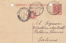 1915. Annullo Ambulante  AMB. BRINDISI - NAPOLI,  Su Cartolina Postale Con Testo - Marcophilia