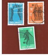 TURCHIA (TURKEY)  -  SG 2512.2514  - 1974 BALL GAMES  (COMPLET SET OF 3)  - USED - Storia Postale
