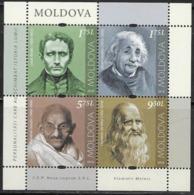 MOLDOVA, 2019, MNH, PERSONALITIES, GANDHI, EINSTEIN, DA VINCI, LOUIS BRAILLE, SHEETLET - Mahatma Gandhi