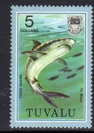 Tuvalu 1979-81 Fish Definitives $5 Tiger Shark Value, MNH, SG 122 (BP2) - Tuvalu