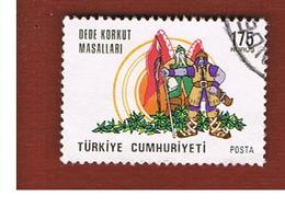 TURCHIA (TURKEY)  -  SG 2535  - 1975 DEDE KORKUT TALES  - USED - Brieven En Documenten