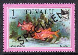 Tuvalu 1979-81 Fish Definitives 1c Squirrelfish Optd. Specimen, MNH, SG 105 (BP2) - Tuvalu