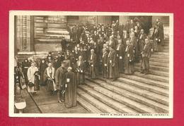 C.P. Bruxelles =  25.11.1918 : Le  ROI  Et La Haute Magistrature Au Palais De Justice. Le Droit  Reprend, Ses Droits - Cafés, Hotels, Restaurants