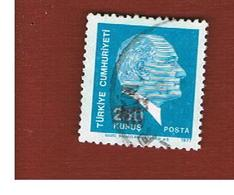TURCHIA (TURKEY)  -  SG 2596  - 1977  K. ATATURK, 250 (20X22)    - USED - Brieven En Documenten