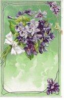 L170A263 - Très Jolie Bouquet De Violettes Sur Carte Gauffrée - Fantaisies