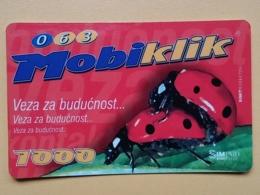 T15 - TELECARD SERBIA, MOBIKLIK- LADYBIRD, LADYBUG, COCCINELLE - Jugoslavia
